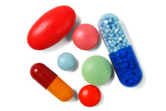 Closeup of pills Stock Photography