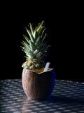 Closeup of a pinacolada tropical coconut drink Stock Image