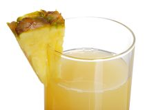 Closeup Pineapple Juice Royalty Free Stock Photography