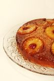 Closeup pineapple upside down cake Stock Photography