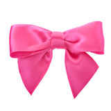 Closeup pink bow Royalty Free Stock Images
