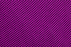 Closeup on pink checkered tablecloth wool fabric. Stock Images