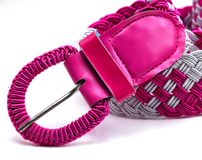 Closeup of pink color belt Royalty Free Stock Photo
