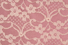 Closeup of Pink and Cream Lace Stock Photography