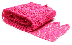 Closeup of pink lace stock photography