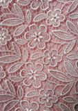 Pink lace texture Royalty Free Stock Photo