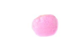 Closeup pink spun sugar on white background Royalty Free Stock Image