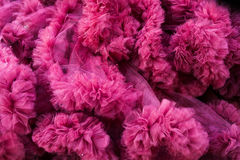 Closeup of a pink tulle background Stock Photo