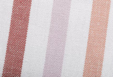 Closeup of pink violet white striped textile as background or texture Royalty Free Stock Image