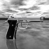Closeup of pistol Stock Photos