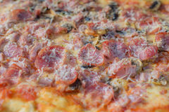 Closeup of pizza Stock Images