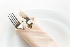 Closeup of place setting Royalty Free Stock Photo