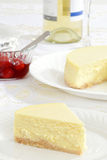 Closeup plain cheesecake Royalty Free Stock Photo