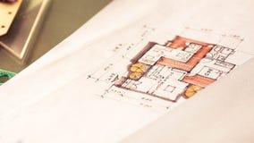 Closeup of plan interior Stock Images