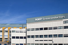 Closeup plant building NXP Semiconductors Nijmegen Royalty Free Stock Image