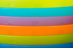 Closeup of plastic dishes Stock Photos