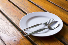 Closeup of plate on old white Royalty Free Stock Photo