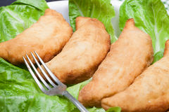 Closeup Of Plate With Panzerotti Royalty Free Stock Photography