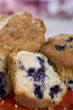 Closeup of a plate of various muffins Royalty Free Stock Photo