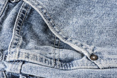 Closeup of pocket of blue jeans Royalty Free Stock Photos