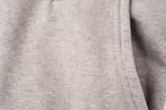 Closeup of Pocket of Grey Clothing Royalty Free Stock Photo