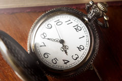 Closeup of pocket watch. Royalty Free Stock Photography