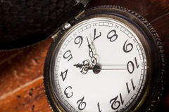 Closeup of pocket watch. Royalty Free Stock Image