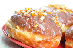 Closeup of polish donuts. Royalty Free Stock Photography