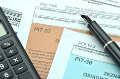 Closeup of polish tax forms Stock Image