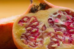 Closeup of Pomegranate Royalty Free Stock Photo
