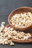Closeup of popcorn in a bowl Royalty Free Stock Images