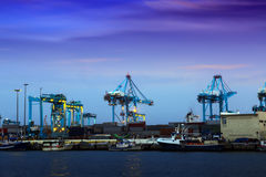 Closeup of Port in  twilight Stock Photography