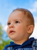Closeup portrait of adorable baby Royalty Free Stock Image