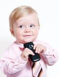 Closeup portrait of adorable baby businessman Stock Photo