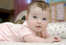 Closeup portrait of adorable baby girl Royalty Free Stock Image