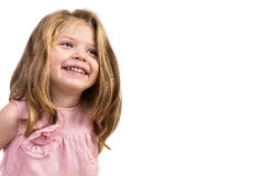 Closeup portrait of an adorable  happy girl Royalty Free Stock Photo