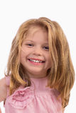 Closeup portrait of an adorable little girl smiling Royalty Free Stock Photography