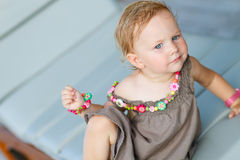 Closeup portrait of adorable toddler girl Royalty Free Stock Photography