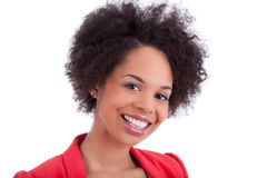Closeup portrait of a african american woman Stock Photos