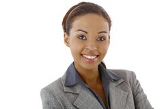 Closeup portrait of afro businesswoman Stock Photography