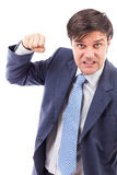 Closeup portrait of an angry businessman Stock Photos
