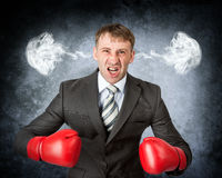 Closeup portrait angry man Stock Image