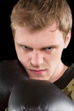 Closeup portrait of angry man Stock Photography