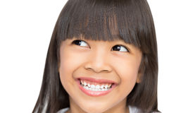 Closeup portrait of Asian little girl Royalty Free Stock Photography