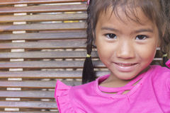 Closeup portrait of Asian little girl Stock Photos
