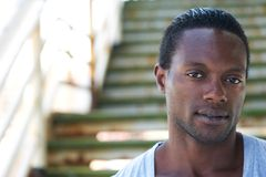Closeup portrait of an attractive african american man Stock Photography