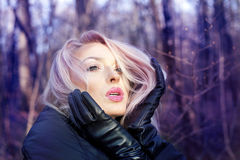 Closeup portrait of attractive blonde. Royalty Free Stock Photos