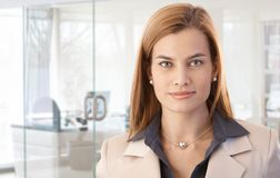 Closeup portrait of attractive businesswoman Stock Photography