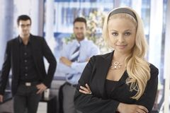 Closeup portrait of attractive businesswoman Royalty Free Stock Image
