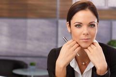 Closeup portrait of attractive businesswoman Stock Image